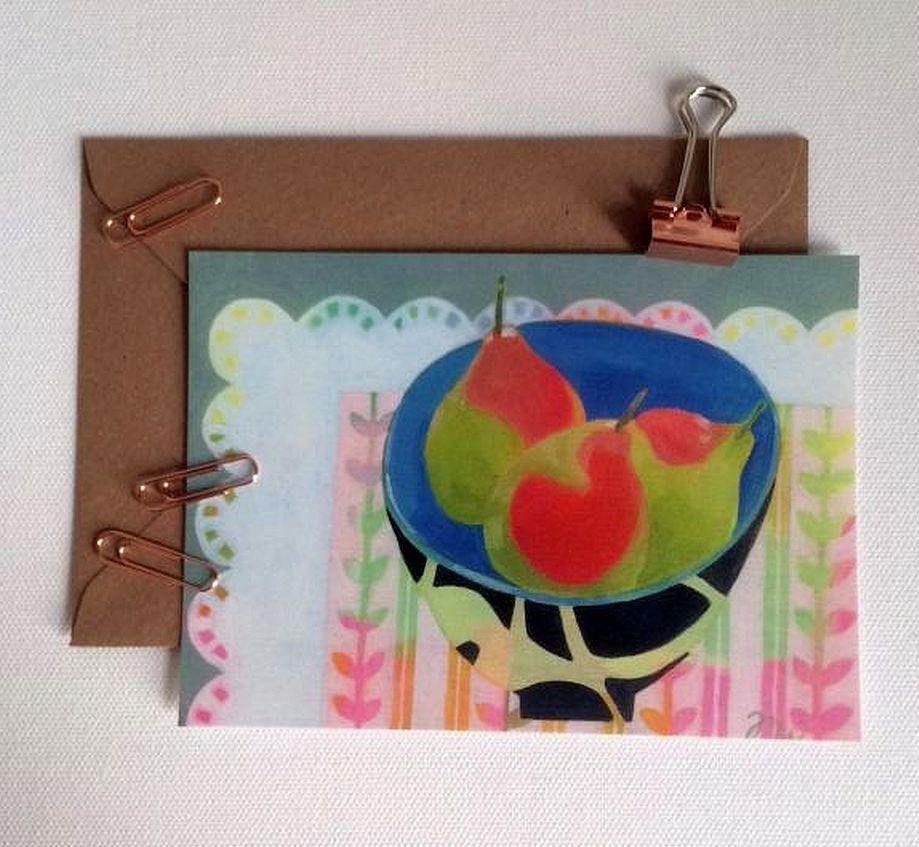 Still Life Postcard Art Card Recycled Envelope 6 X 4