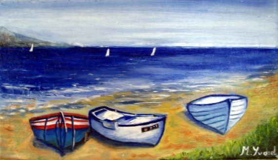Tableau Peinture Marine Mer Bateau Barques Marine Peinture A Lhuile