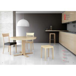 Mesas y sillas de cocina mesa rhin 90 mesa de cocina for Mesas de cocina redondas extensibles