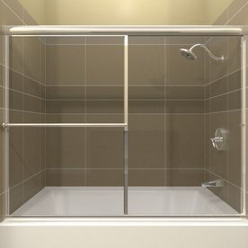 Arizona Shower Door Standard 54 In To 58 In W X 56 In H Chrome Sliding Shower Door Fte58x56bdcl Bathtub Doors Shower Doors Sliding Shower Door