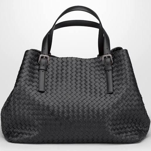 6d67b06c0273 Nero Intrecciato Nappa Large Cesta Bag - Bottega Veneta