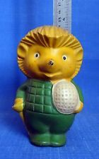 1960's Soviet Russian Vintage USSR Rubber Squeaker Toy Hedgehog