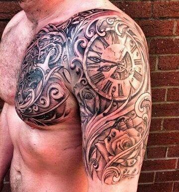 Hombre Tatuajes De Reloj