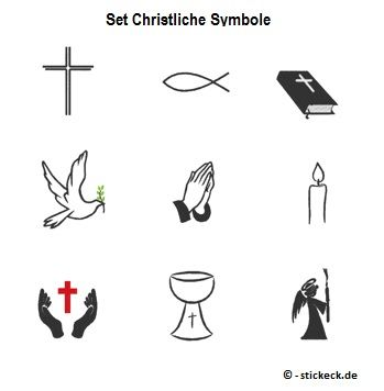 20170428 Set Christliche Symbole Stickeckde