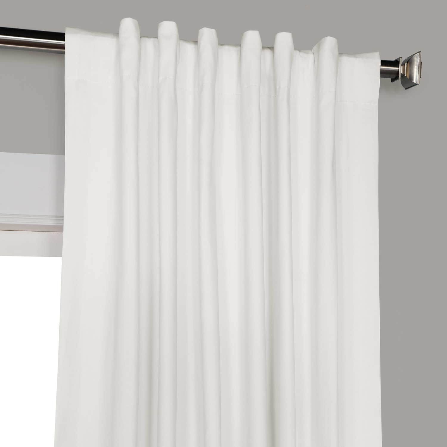Whisper White Solid Cotton Blackout Curtain Curtains Blackout