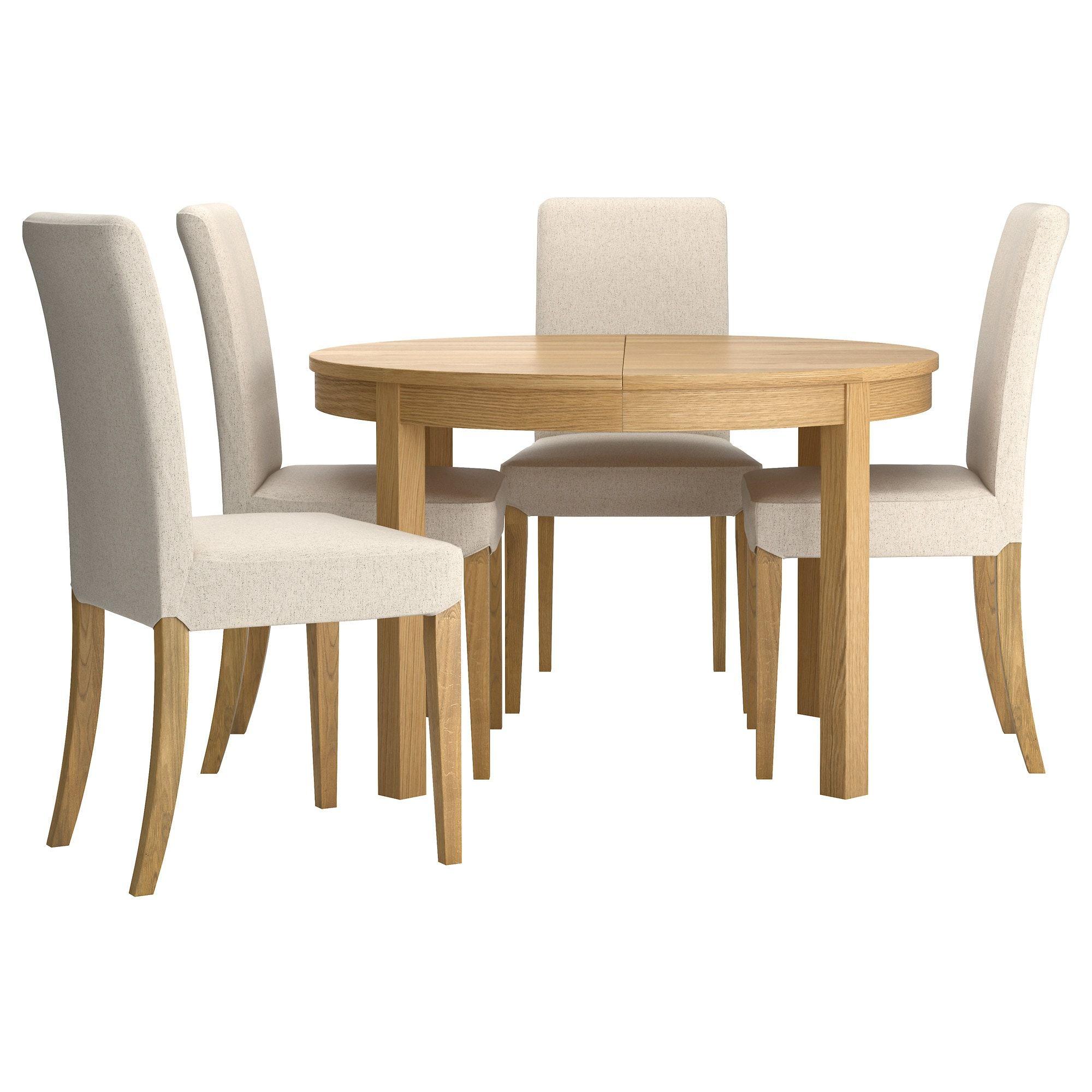 Bjursta Henriksdal Table And 4 Chairs Oak Veneer Linneryd