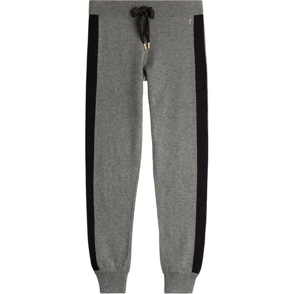 Juicy Couture Cashmere Sweatpants (2.820 NOK) ❤ liked on Polyvore featuring activewear, activewear pants, grey, drawstring sweat pants, grey sweat pants, slim fit sweat pants, gray sweatpants and slim fit sweatpants
