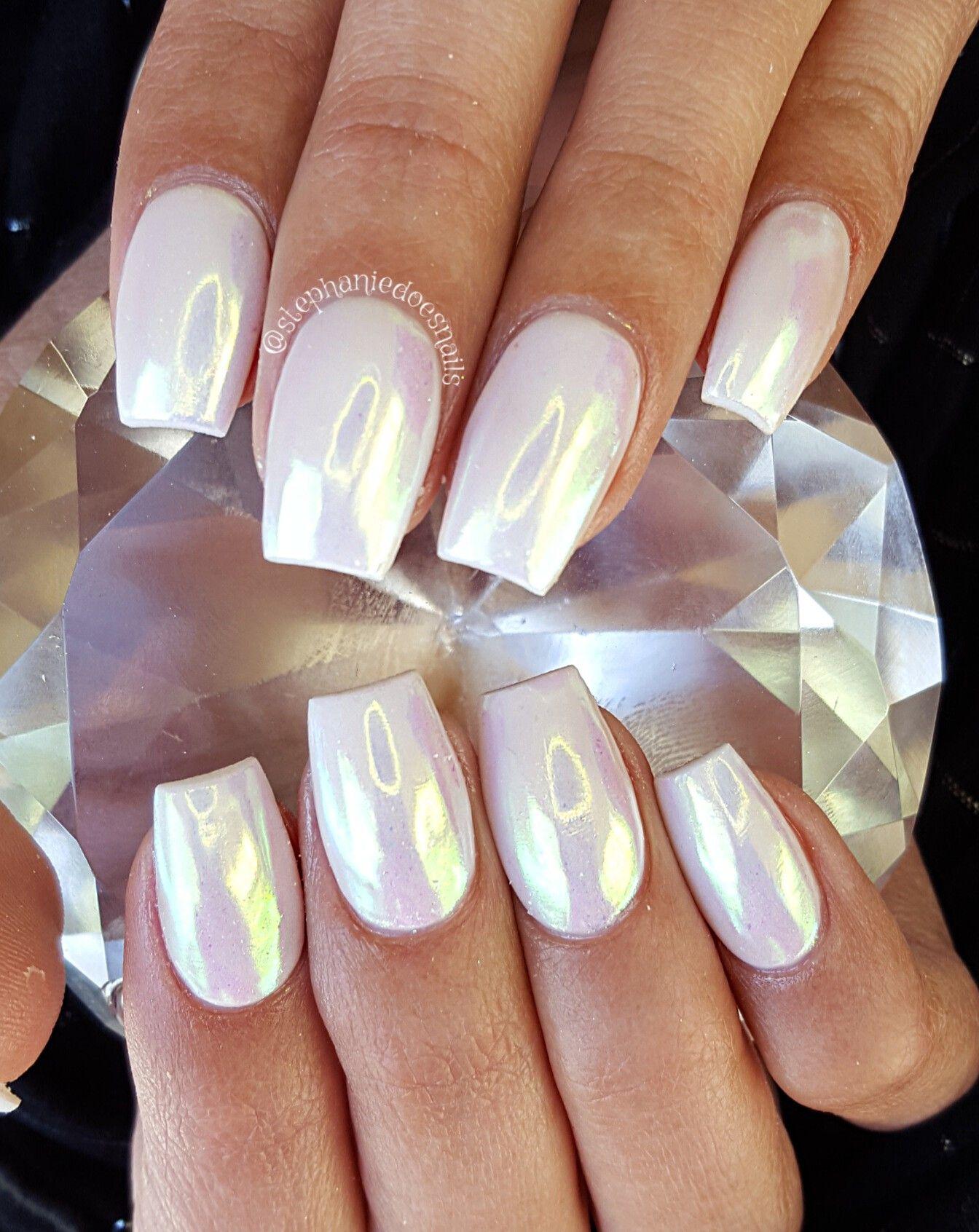 Unicorn Chrome Nail Designs Nails Nail Colors