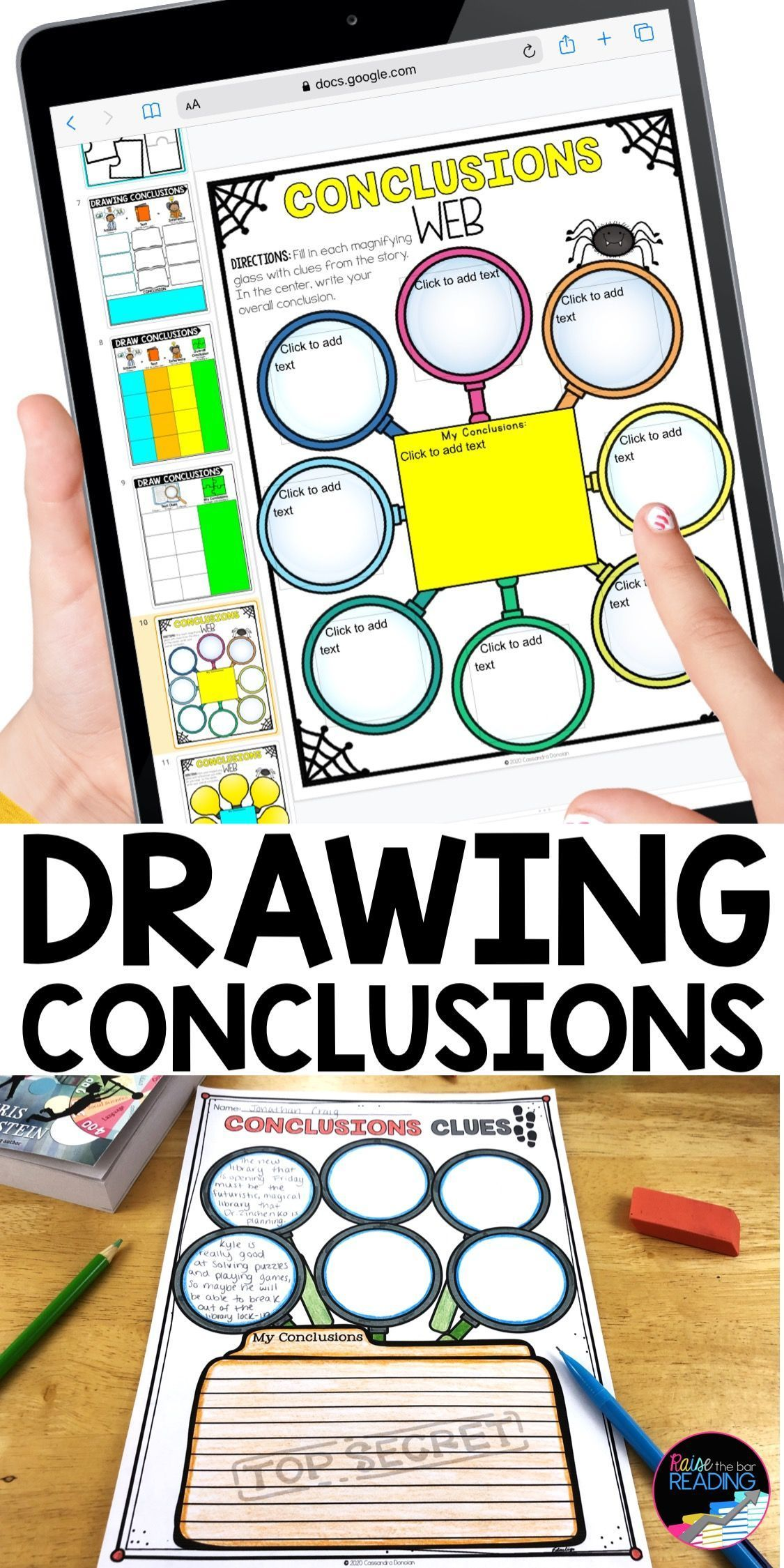 Drawing Conclusions Worksheets Paper Digital Reading Graphic Organizers Reading Graphic Organizers Graphic Organizers Teaching Reading Comprehension [ 2249 x 1125 Pixel ]