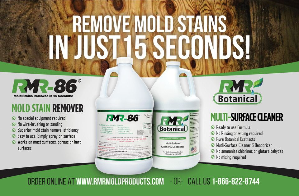 The Fastest Mold Stain Remover Rmr 86 Removes Stains In 15