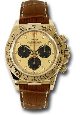 717371a870c Rolex Watches  Daytona Yellow Gold - Leather Strap 116518 pnbr ...