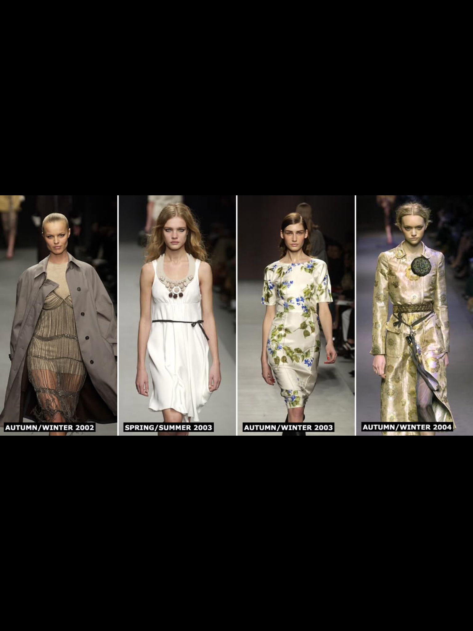 Prada -  minimalist colour palette of black, gray and nude tones. Camouflage, leopard print and tartan were also used.