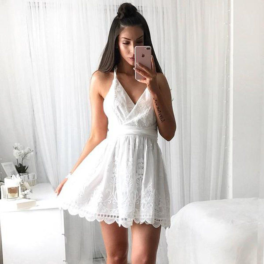 Short homecoming dress lace homecoming dress new arrival