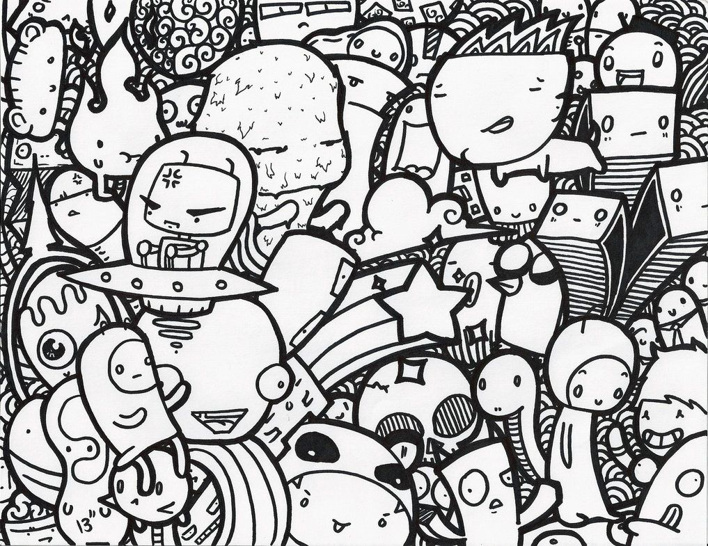 Doodle lazy doodle by mrqueezydoodle doodles for Doodle art monster