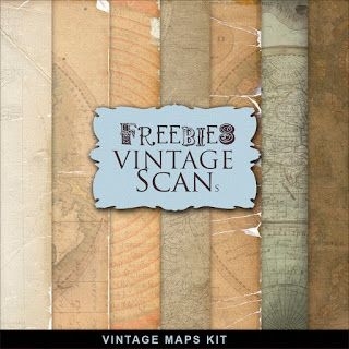 Far Far Hill: Freebies Vintage Maps Kit