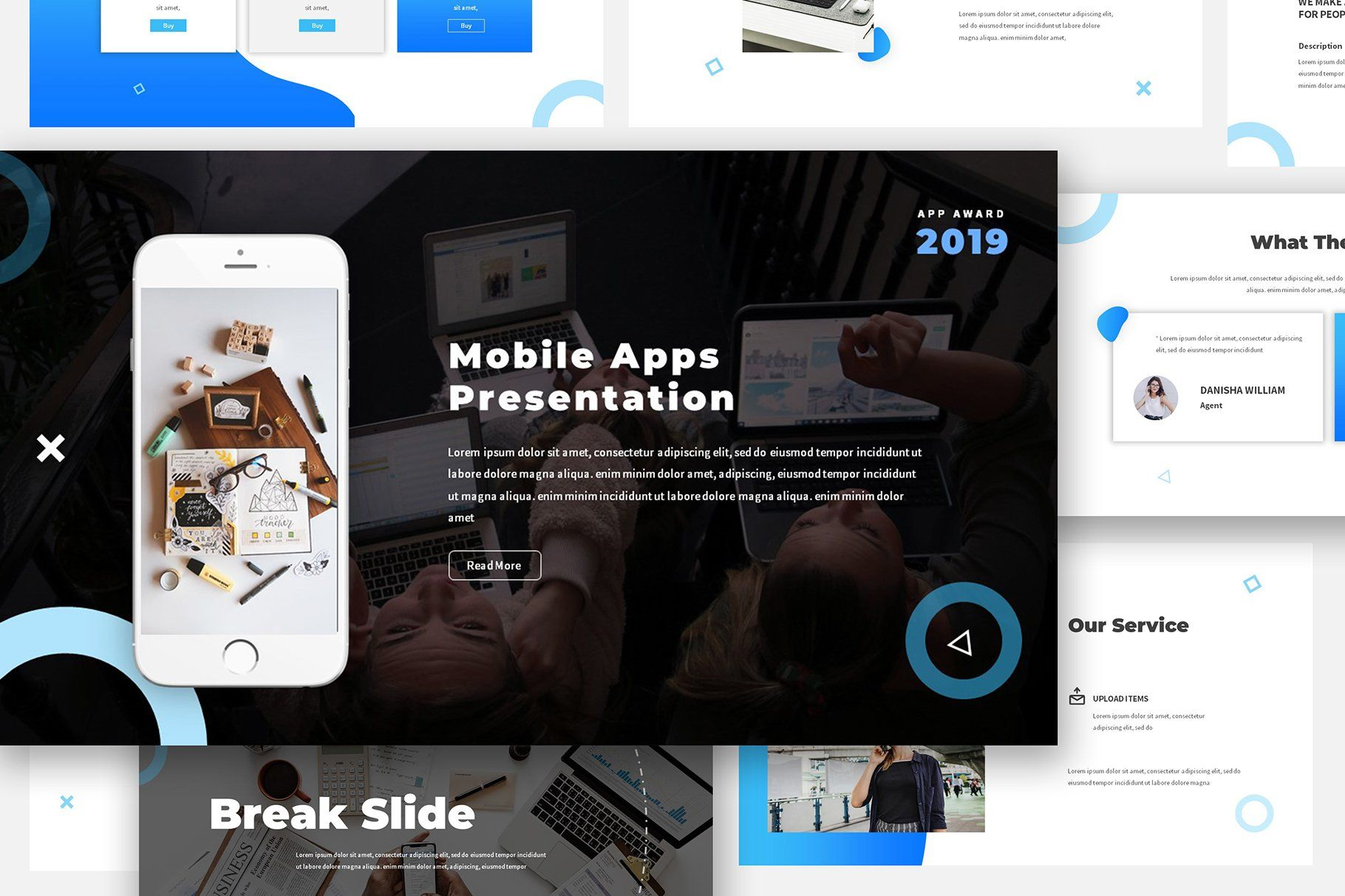 Mobile App Powerpoint Proposal Mobile App Presentation Templates Keynote Template