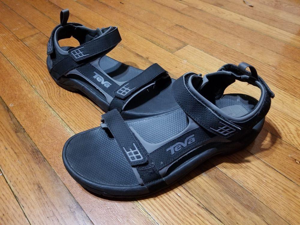 f0868e406059 TEVA Minam Sport Sandals Hiking Trail Water River ShocPad Mens 11 S N 4289  Black