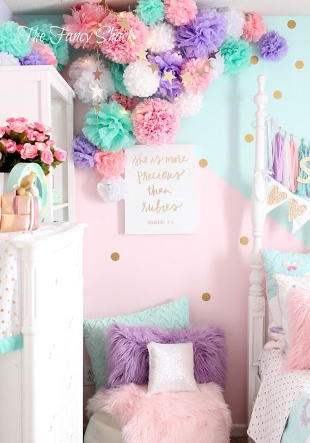 Sami Says Ag The Fancy Shack Girls Pastel Bedroom Room Makeover Sami 39 S New Pastel Girls
