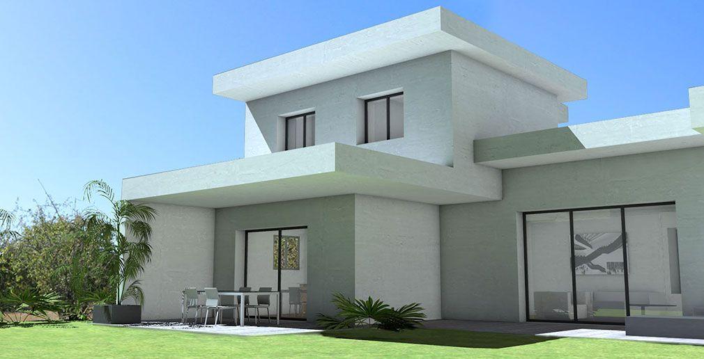 Atelier Scenario Architectes Maison Contemporaine En C A Toits Terrasses Et Casquettes Beton Vue De La Ter Maison Architecte