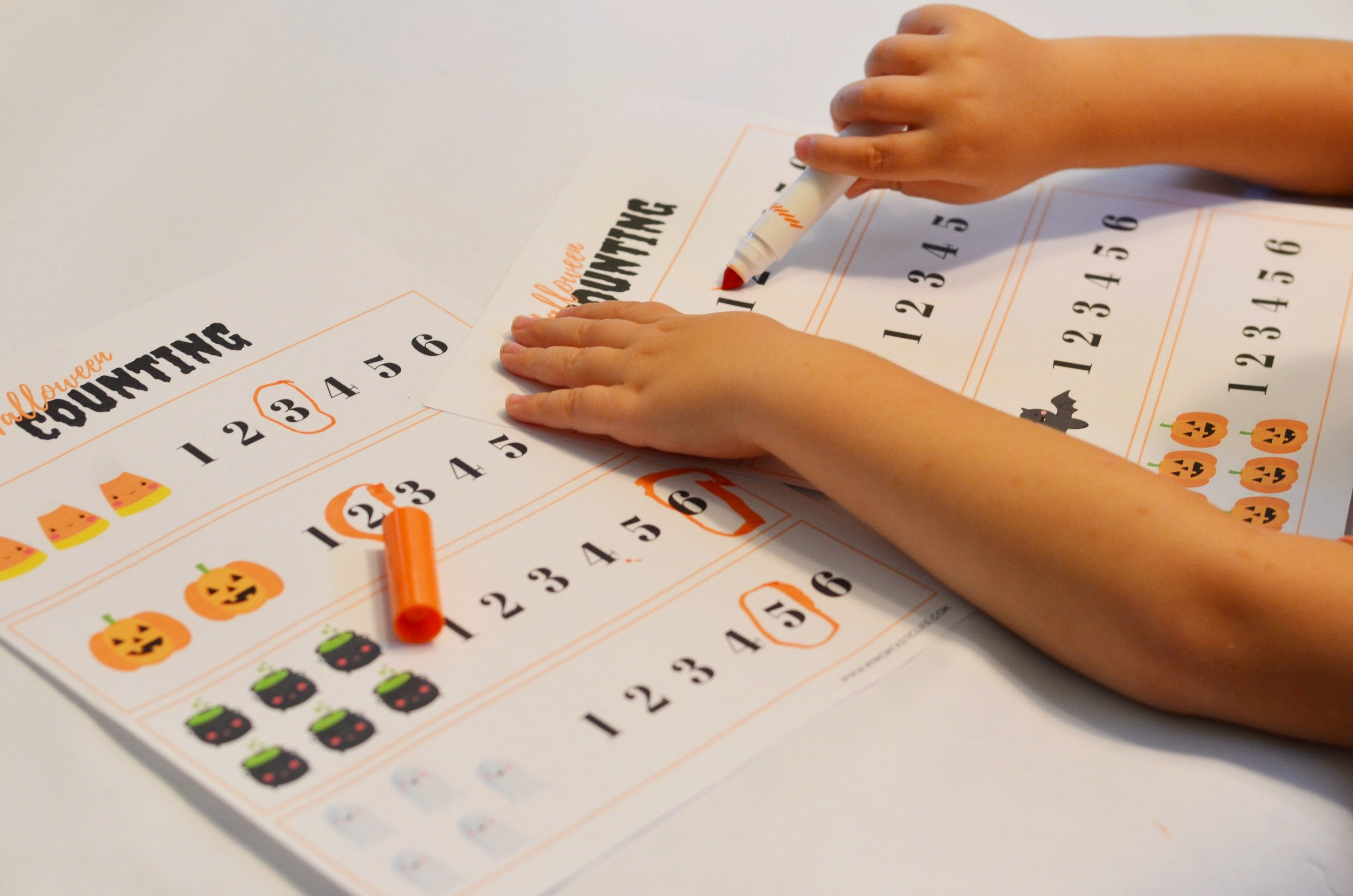 Halloween Counting Worksheets For Preschoolers
