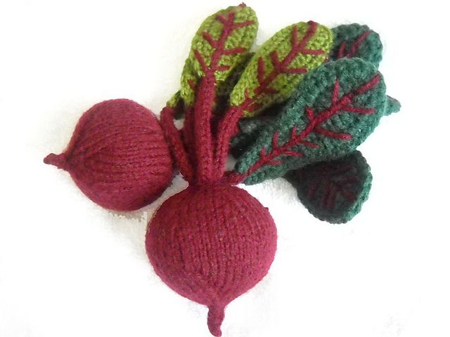 Fun - really like these knitted beets