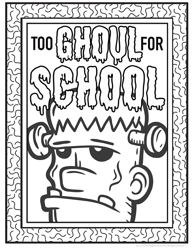Halloween Coloring Pages   Early finishers, Indoor recess and ...