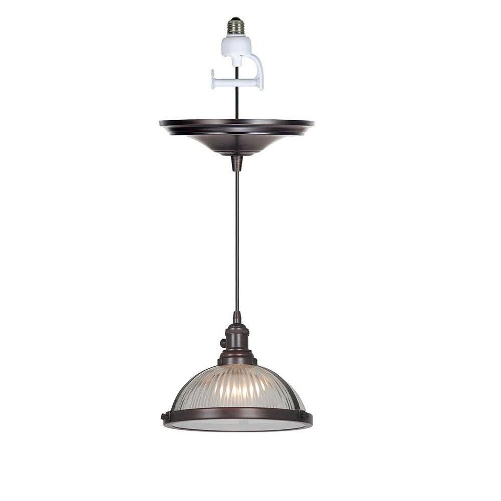 125 Home Decorators Collection Hampton 1 Light Polished Bronze Instant Pendant With Conversion Adapter Pendant Light Decor Home Decorators Collection