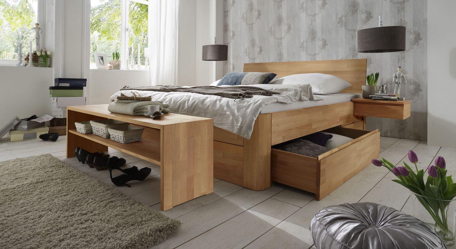"""SchubkastenDoppelbett """"Zarbo"""" Schlafzimmer massivholz"""