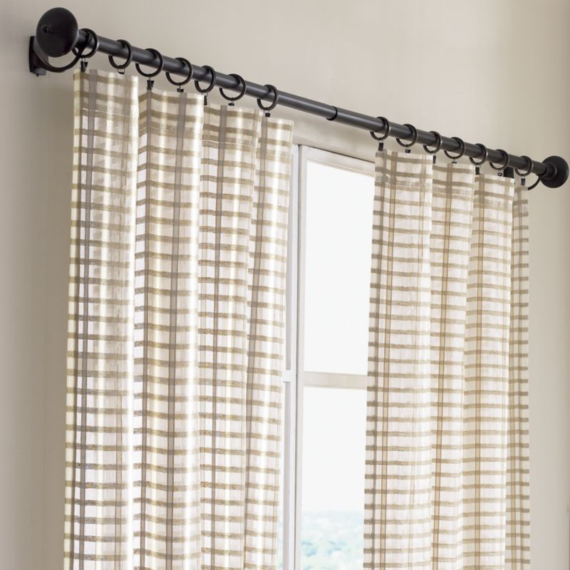 Ross Natural Sheer Curtain Panels Curtain Style