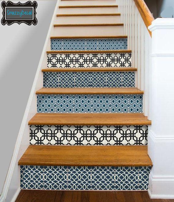 Decals stair risers kitchen bathroom wall stair riser tile decals vinyl sticker