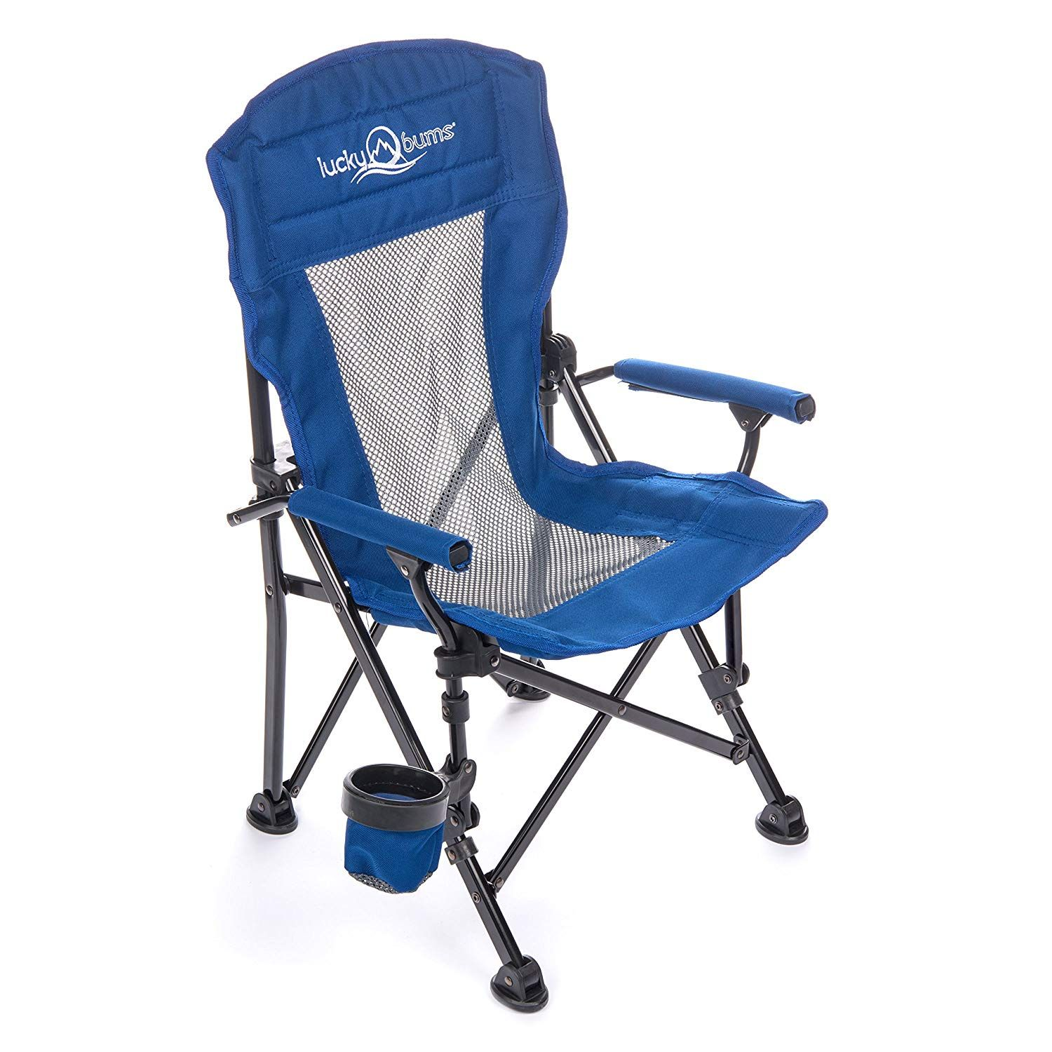 Lucky Bums Youth Folding Arm Chair with Cup Holder ** See
