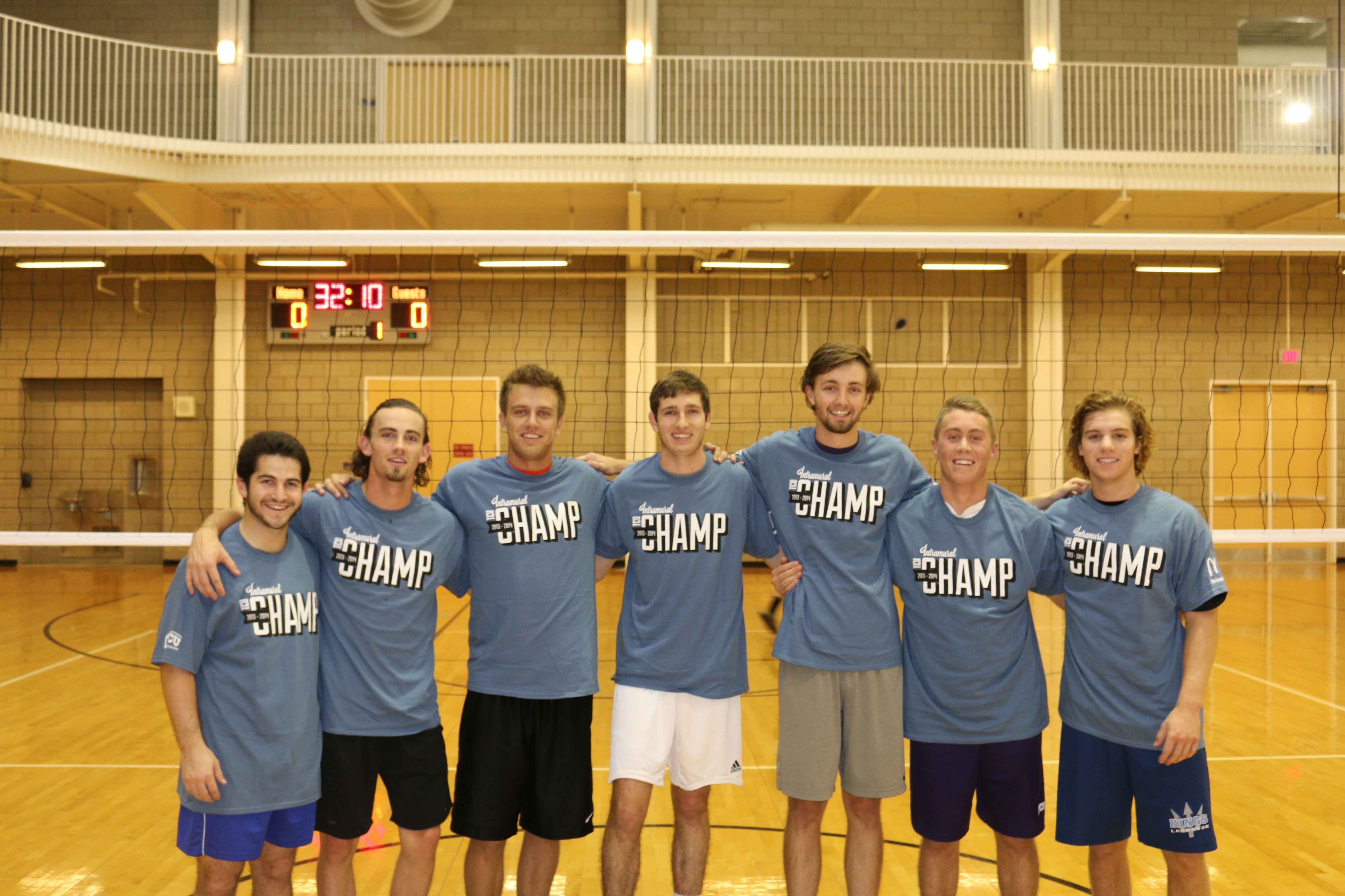 Men S Indoor Volleyball Champs Indoor Volleyball Intramurals Champs