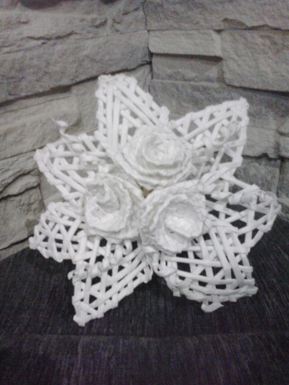 Kwiat Z Wikliny Papierowej Crochet Necklace Crochet Earrings Crochet