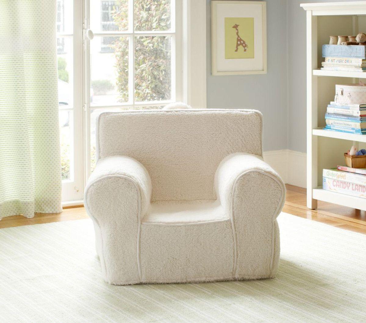 Cream Sherpa Anywhere Chair® Pottery barn anywhere chair