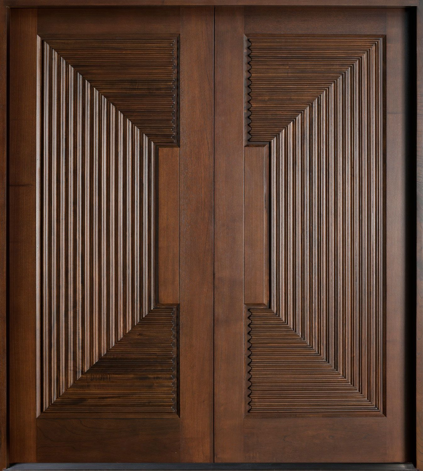 Peachy Picturesque Espresso Wooden Double Modern Front Door With Carving Largest Home Design Picture Inspirations Pitcheantrous