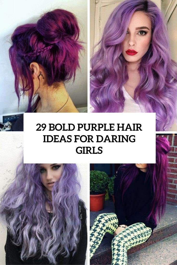Bold Purple Hair Ideas For Daring Girls  HAIR NAILS