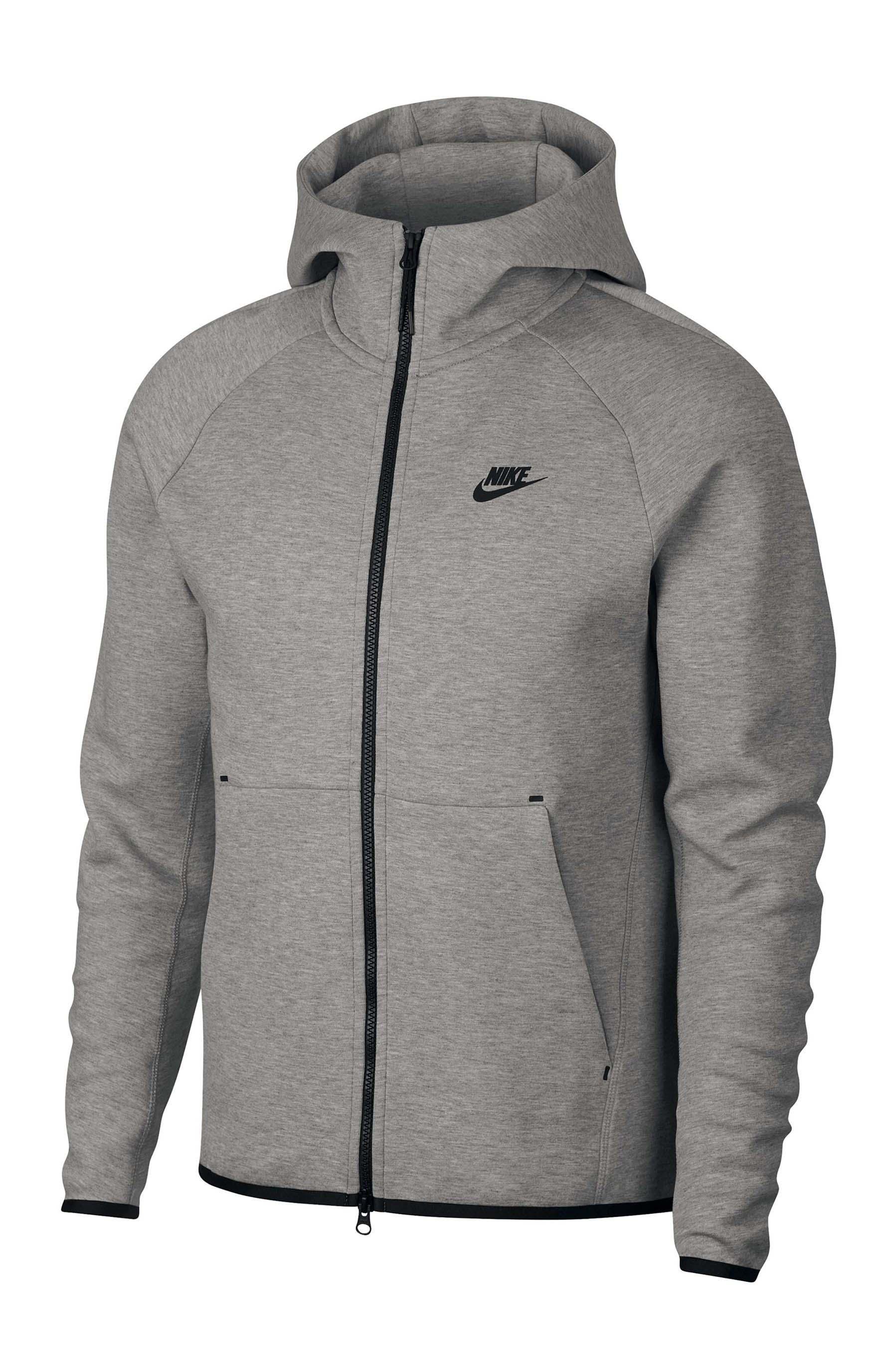 Mens Nike Tech Fleece Hoody Grey Nike tech fleece