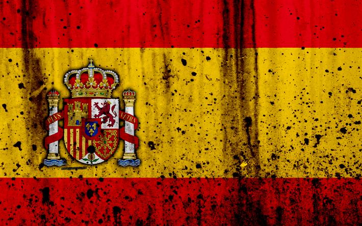 Descargar Fondos De Pantalla La Bandera Española, 4k, El