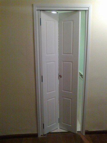 Puerta rebatible de mts x mts laqueada puertas plegables ba os y ba o - Puertas plegables para banos ...