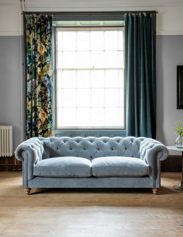 Best Velvet Chesterfield Sofa By Rose Grey Living Room 400 x 300