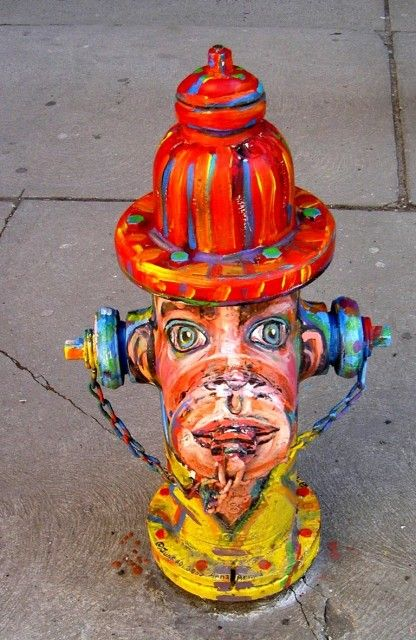 Very pretty, but not always good to paint #hydrants. Some are ...