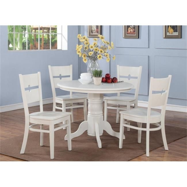 Shro3Whiw 3 Pc Small Kitchen Table Setround Table With 2 Entrancing Three Piece Dining Room Set Decorating Design
