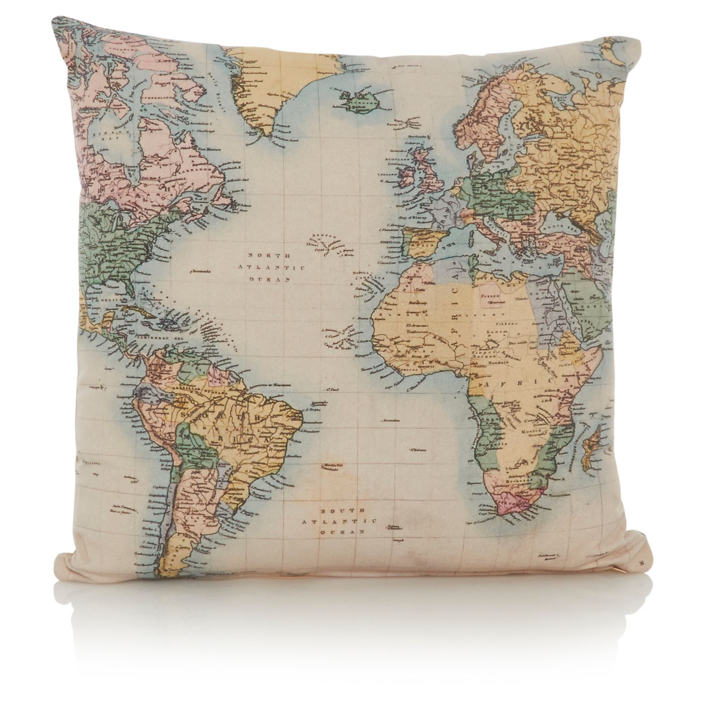 George Home Map Cushion View All Living Room
