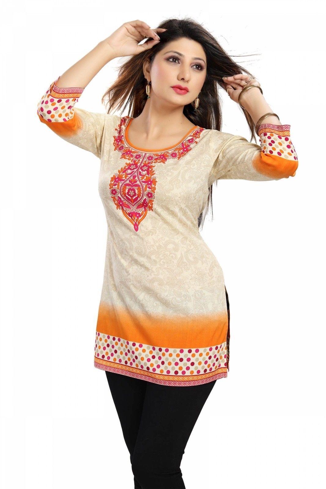 Indian Designer Crepe tops blouse kurta Kurtis-Tunics for Women