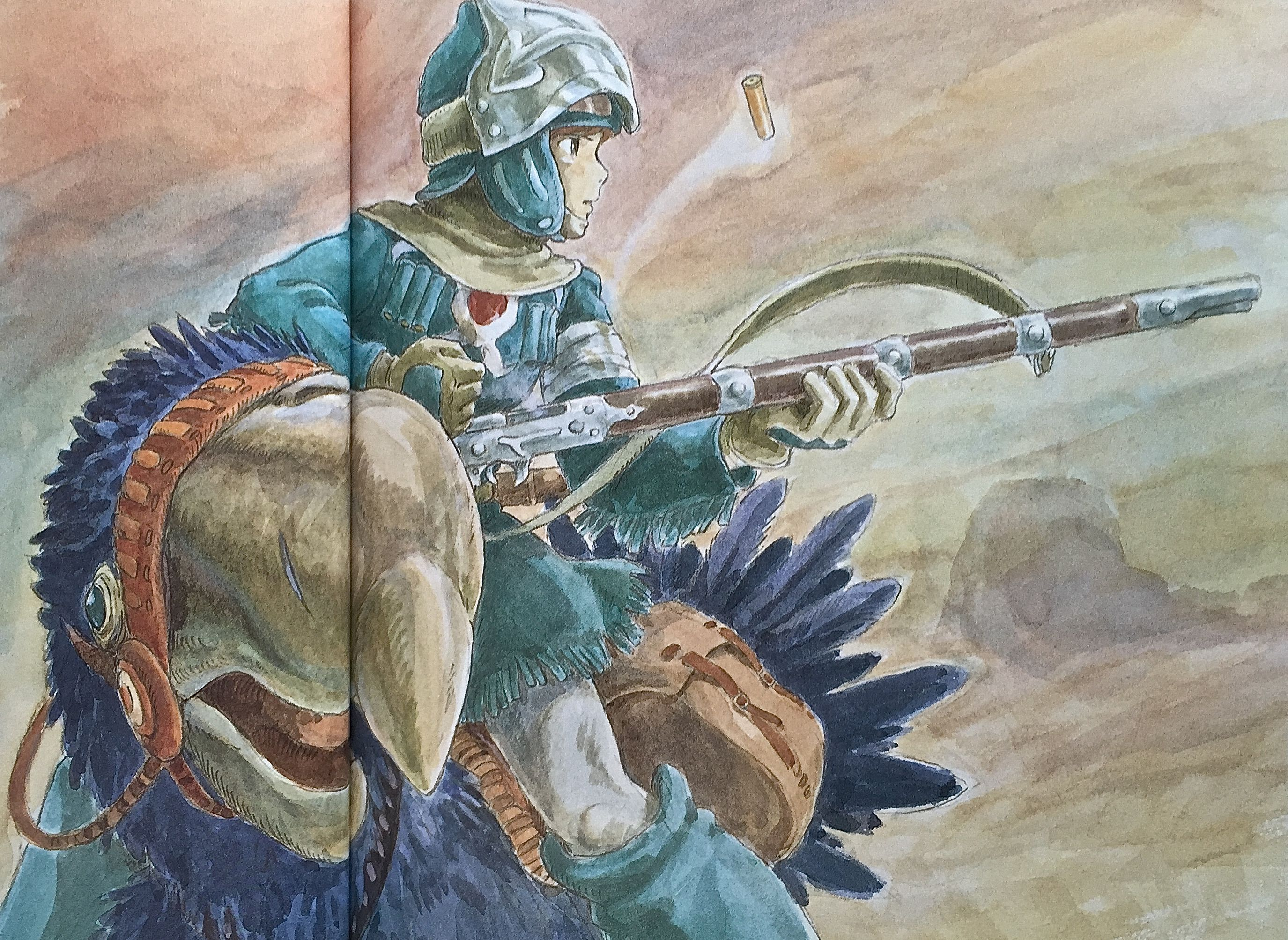 Illustrations done for the Nausicaa manga ===== Manga began running in monthly 'Animage' in Feb. 1982, collected in order of appearance ===== Notes: I don't remember what I drew this for.