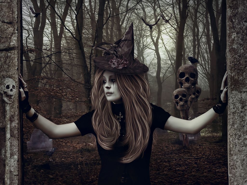 Halloween witch wallpapers Posted by Celebration Day at