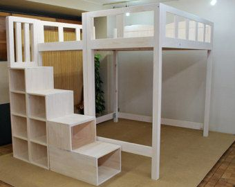Best Super Heavy Duty Loft Bed With Stair Case Shelf By 400 x 300