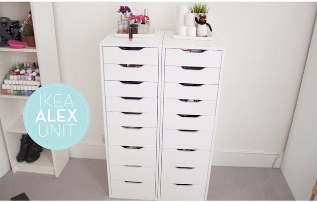 Alex Drawer Unit With 9 Drawers 12 Ikea Makeup Storage Ideas You Ll Love