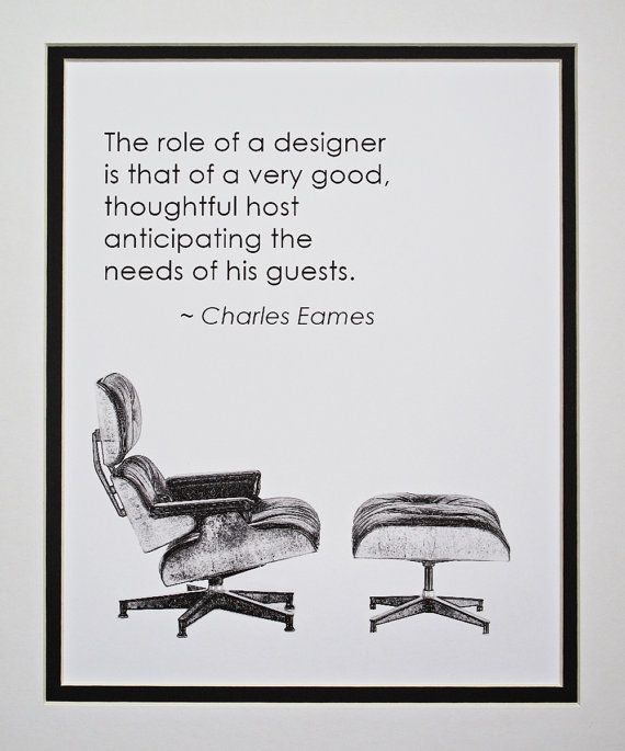 Citaten Filosofie : Art poster charles eames quote the role of a by