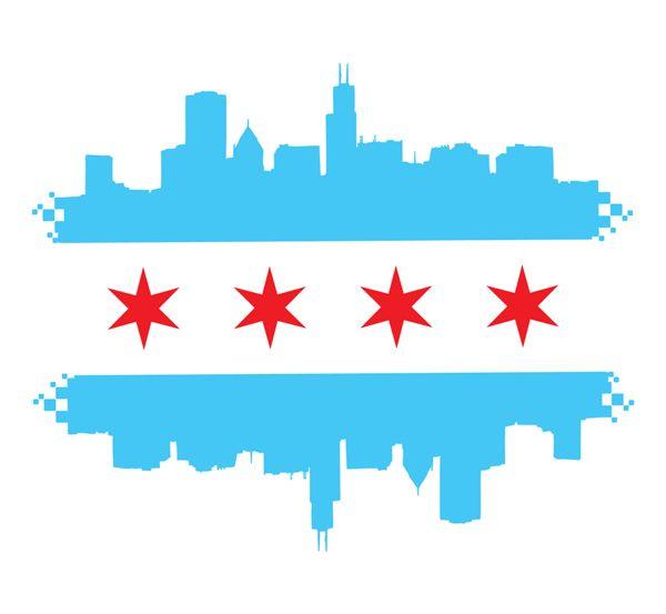 Chicago Flag Paint Night Class Idea Chicago Flag Chicago Art Chicago Flag Tattoo